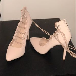 Charlotte Russe Piper Lace-Up Heels